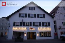 LED Außenbeleuchtung Fassade Hotel Fuchsbräu